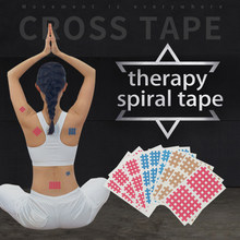 (20sheets/lot) high quality Spiral Cross Kinesiology Tape Physical Therapy Cross Tape(China)