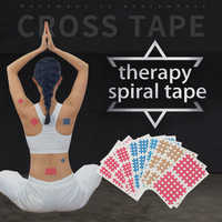 (20sheets/lot) high quality Spiral Cross Kinesiology Tape Physical Therapy Cross Tape