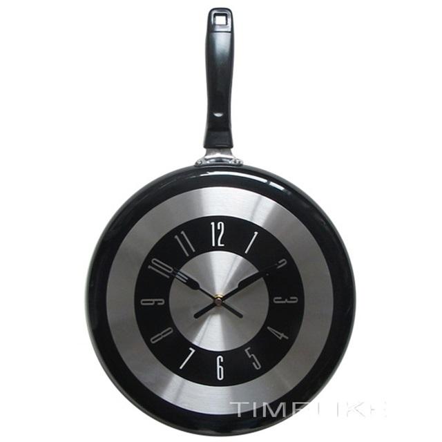 Large 12Inch Wall Clock Modern Design Kitchen Frying Pan Metal Clock Fashion Style Home Decor Big Watch Horloge Murale Wanduhren