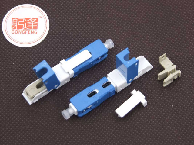 100pcs GONGFENG Hot New SC Optic Fiber Fast Connector FTTH SC/UPC Used Fiber Cable Quick Connector Special  Wholesale to Russia
