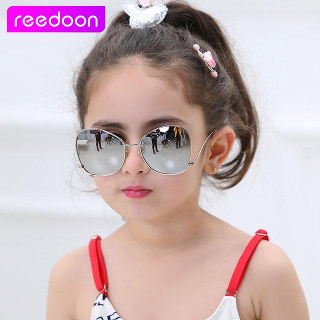 3d0650ba28da 2017 New Fashion Children Sunglasses Boys Girls Kids Baby Child Sun Glasses  Goggles UV400 mirror glasses