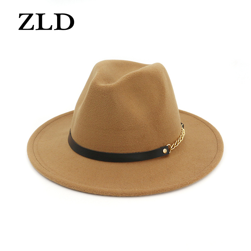 ZLD Brand  Winter Autumn Imitation Woolen Women Men Ladies Fedoras Top Jazz Hat European American Round Caps Bowler Hats
