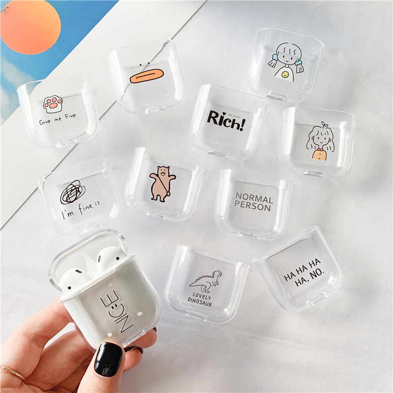 Śliczne etui do apple Airpods Case Cartoon Bluetooth słuchawki ochronne sztywne etui do Airpods Pro case box do air pods 2/1/3