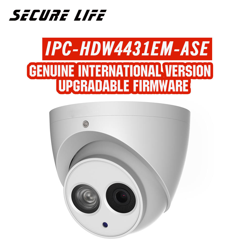 English version with logo IPC HDW4431EM ASE 4MP IR Eyeball Network ip security Camera poe built
