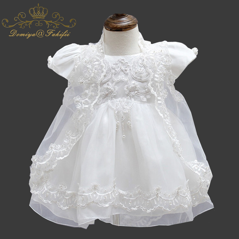 1 Year Birthday Baby Sets Girl Dresses For Baptism Infant Snow White Princess Lace Christening Gown Newborn Clothes For Girls baptism christening gown baby girls dress 1 year birthday dress tutu girl white lace formal infant 1st birthday princess dress