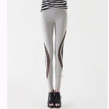2017 Hot Sale Gray Women Long Workout Activewear Pants Leggings Skinny Ladies Casual Elastic Slim High Waist Sportwear Trousers