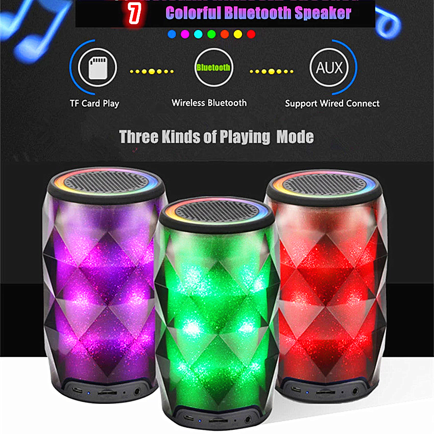Anko Bluetooth Portable Speaker Crystal Look: Aliexpress.com : Buy Vastsea Crystal Cans Mini Portable LED Lighting Colorful Wireless Bluetooth