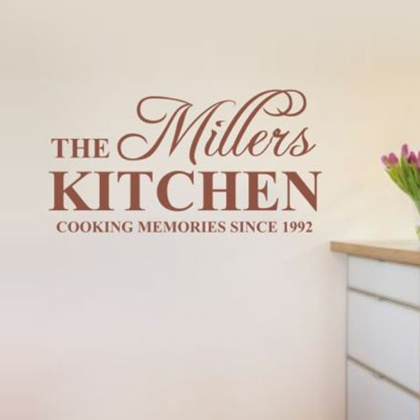 Custom English Name Kitchen Family Wall Stickers Wall Say Quote Word