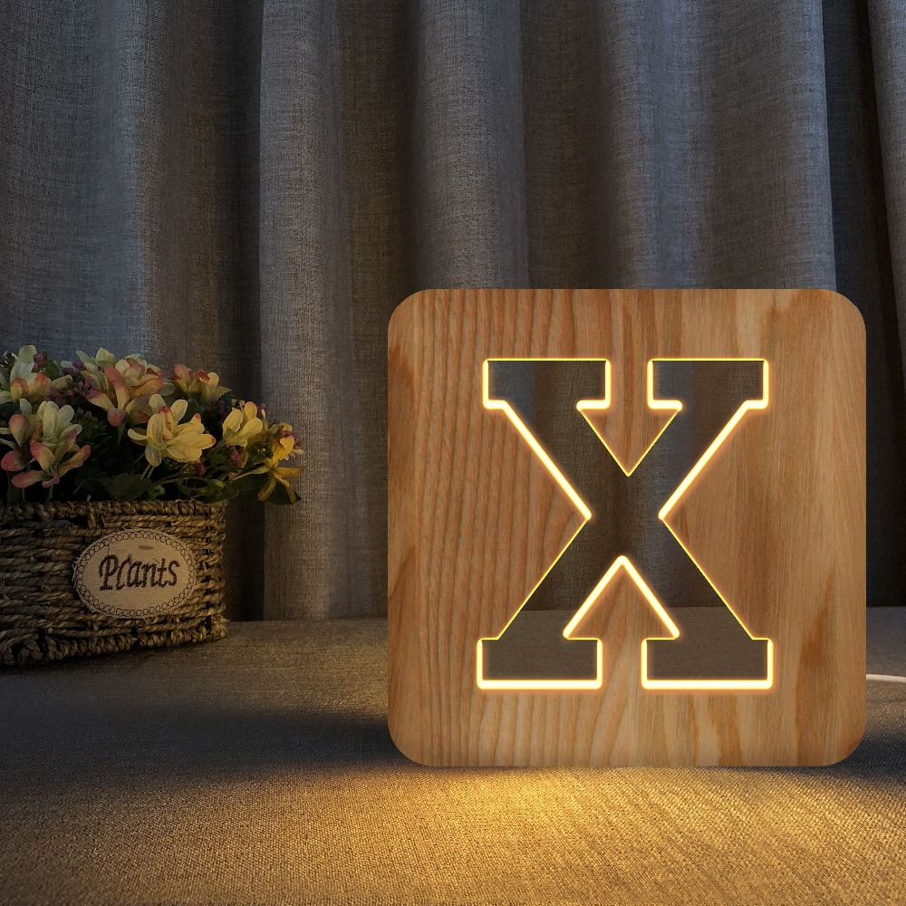 Carta de madeira branca conduziu a luz