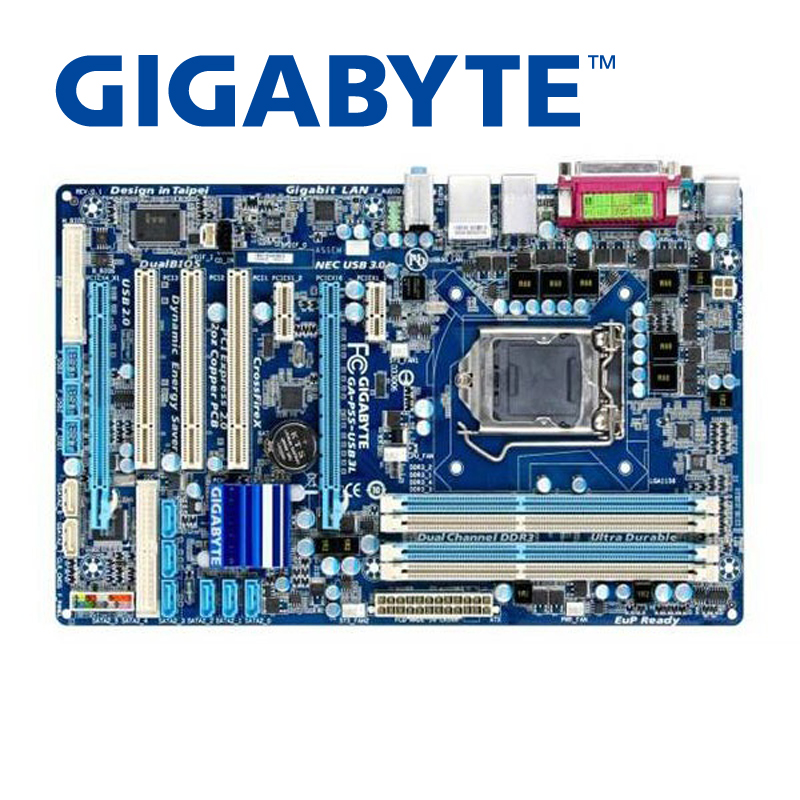 LGA 1156 para Intel DDR3 Gigabyte GA-P55-USB3L SATA II placa base de escritorio P55 USB3L USB 3,0 DDR3 utilizado juntas utilizado
