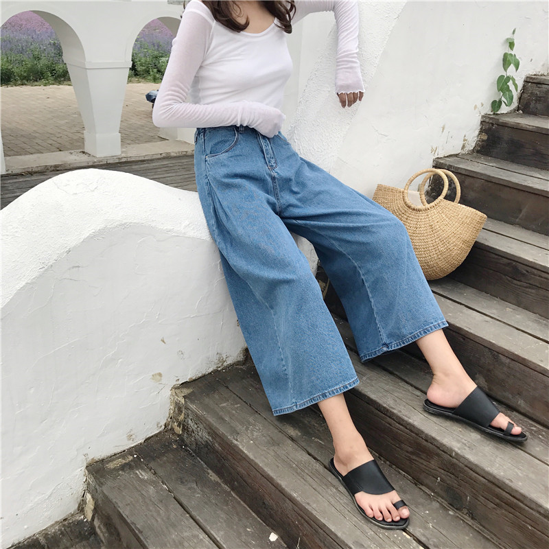 Women Jeans Pants Fashion Retro Loose High Waist Wide Leg Pants Women Denim Wide Leg Jeans Ladies Jeans Trousers Vaqueros Mujer 4