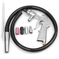 Kit de pistola de chorro de arena de aire abrasivo 7 piezas 1 boquilla de cerámica 1 boquilla de acero 1 tubo de succión de arena arenisca Industrial arma