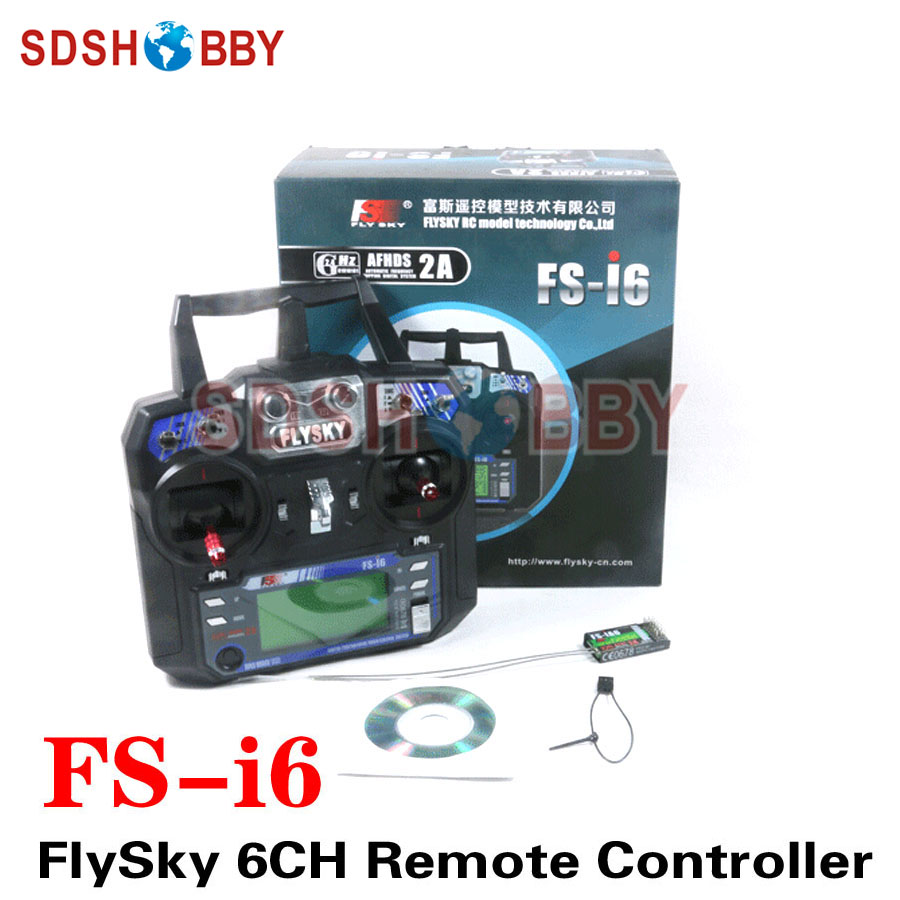 FlySky FS-i6 2.4G 6CH Transmitter Remote Controller Radio System Including iA6 Receiver for RC Quadcopter remote controller 2 4g rc transmitter for mjx x800 hexacopter