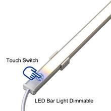 CLAITE Dimmable Under Cabinet Light 50CM 10W SMD5730 Hand Motion Sensor LED Rigid Bar Light DC12V LED Night Light for Home Use