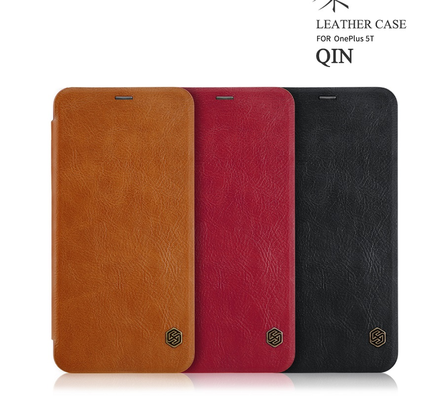 For Oneplus 5t case cover NILLKIN Vintage PU leather Flip Cover Wallet Phone Bags for one plus 5t case smart wake up 6.01 inch ...