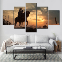 Painting Canvas Wall Art For 5 Piece HD Print Games Witcher 3 Wild Hunt Living Room Artwork