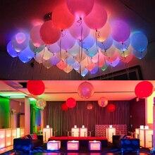 50 шт./лот 12 дюймовые микс Светодиодные воздушные шары миминесцентный светодиодный воздушный шар свечение товары для дня рождения Свадебный декор товары оптом