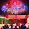 Balões laminados de led, 50, pc/lote, 12 polegadas, branco, mix, flash balões, brilho, suprimentos para festa de aniversário, decoração de casamento, atacado