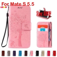 Deluxe Luxury Cute Best Vintage Tree Cat Butterfly PU Leather Book Wallet Case For Huawei Mate
