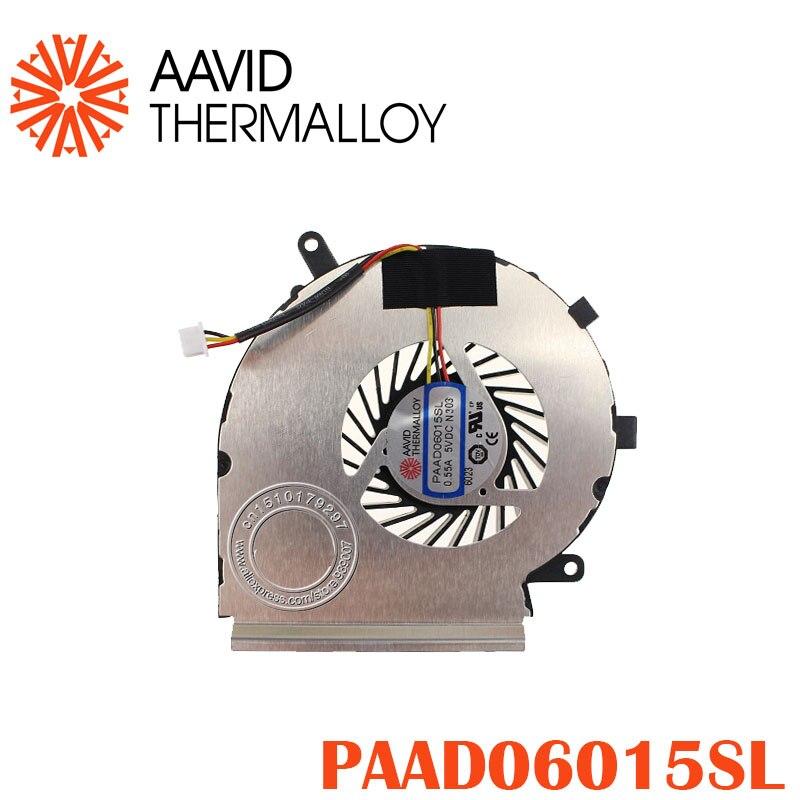 Novo ventilador de refrigeração da cpu para msi ge72 ge62 pe60 pe70 gl62 gl72 paad06015sl 0.55a 3pin 5vdc n303
