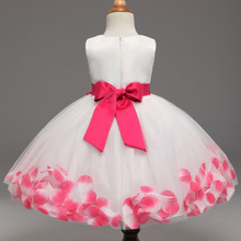 2017 Summer style kids dress for girls clothes flower lace princess party costume girl dress vestido meninas children clothing