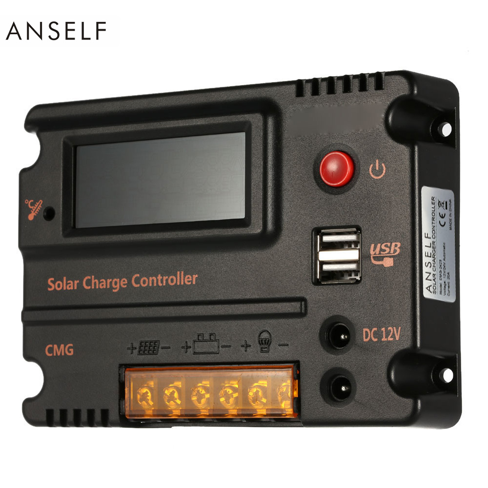 Anself 20A 12V 24V LCD Solar Charge Controller Panel Battery Regulator Auto Switch Overload Protection Temperature Compensation londa londacolor стойкая крем краска 60 мл 8 71