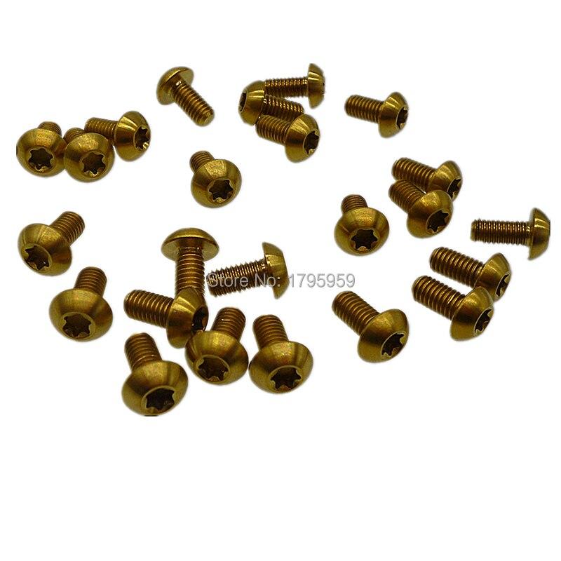 Ti//Titanium Black bolts M5x10mm Water Bottle Cage Torx T25 Head screws 4pcs