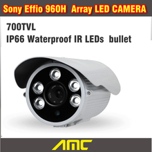 Sony Effio CCD 700TVL CCTV Camera IR Array LED Bullet CCTV Security Camera Outdoor Night Vision Weatherproof Home Security(China)