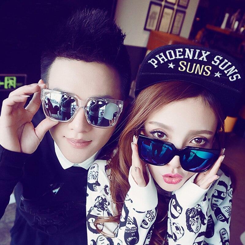 f999a2dc7f46 Fashion Korea Star Like Ken Block Eyewear Women Men Unisex Square Logo  Sunglasses Shades Points sun Glasses Cool Coating Sunglas-in Sunglasses  from Apparel ...