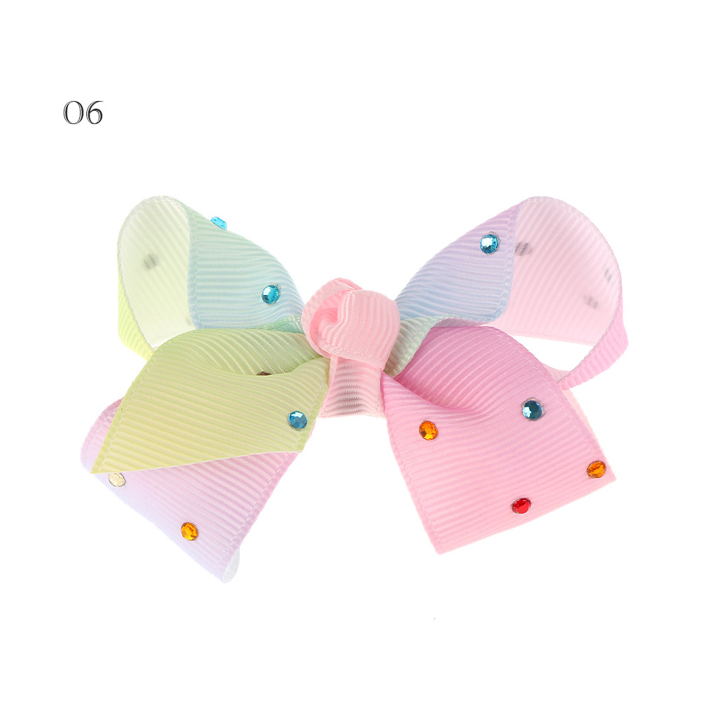Newest multicolor diamond big bowknot hairpins girl barrette large colorful bow hair clip jojo Hair Accessories 2017 newest big bowknot hairpins 8 inch girl barrette large colorful bow hair clip jojo hair accessories