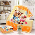 Free shipping raschel thickening double layer child blanket baby blanket 105x125cm 1200g