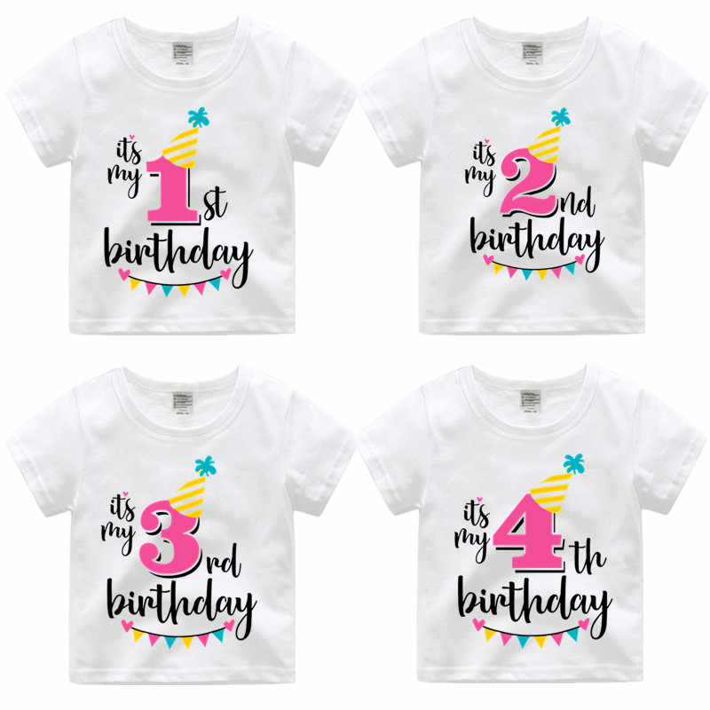 2 14 Year Girls Happy Birthday Number 1 9 Letter Print T Shirt Baby