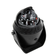 Outdoor Auto Car Electronic Compass Navigation Dashboard Mount Marine Boat Black Hardware Accessory