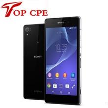 """Sony xperia z2 оригинальный разблокирована gsm 3 г и 4 г android четырехъядерный процессор 2 ГБ ram d6503 5.2 """"20.7MP WIFI GPS 16 ГБ Отремонтированы мобильный телефон"""