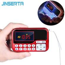 JINSERTA Portable Mini FM Radio haut parleur lecteur de musique TF carte USB pour PC téléphone avec affichage LED multimédia MP3 musique haut parleur