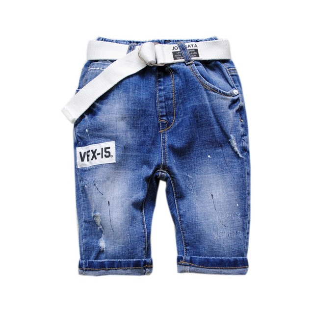 b96acba6a1 US $12.01 |5947 kids summer shorts boys jeans shorts pants soft denim boy  calf length 70% length light blue soft and cool little hole-in Pants from  ...