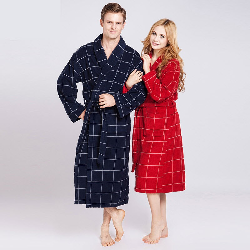 Women\'s Mid-Calf Cotton Sleep Lounge Robes RBS-D RB17 0