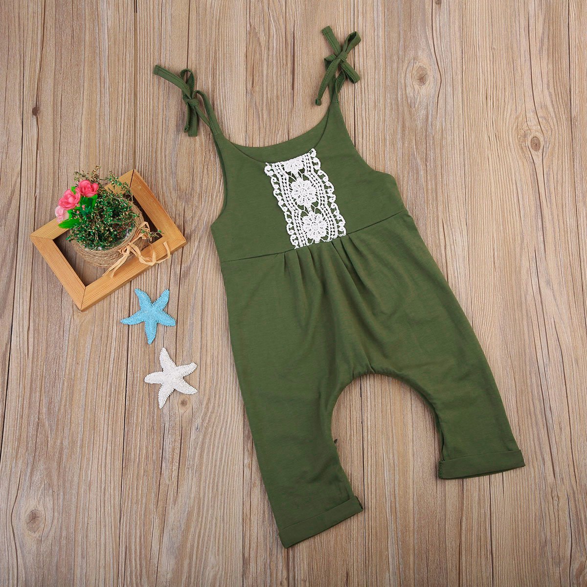 d7e74180d Pudcoco 2018 Baby Girl Clothes Cute Lace Green Romper Newborn Baby ...