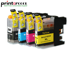for brother lc103 ink cartridge for brother DCP-J152W MFC-J245 MFC-J285DW MFC-J450DW MFC-J470DW MFC-J475DW printer