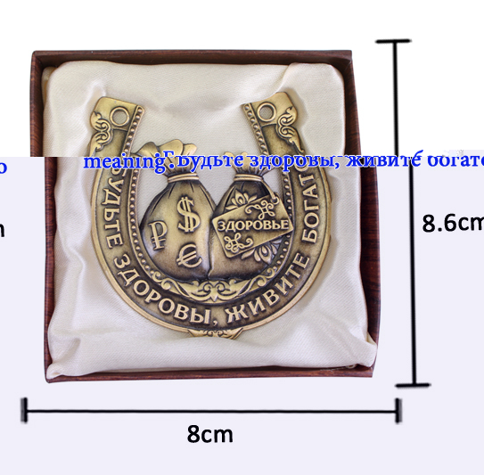 Unique gift box.Russian horseshoe.money bag model handicraft.office - Home Decor - Photo 5