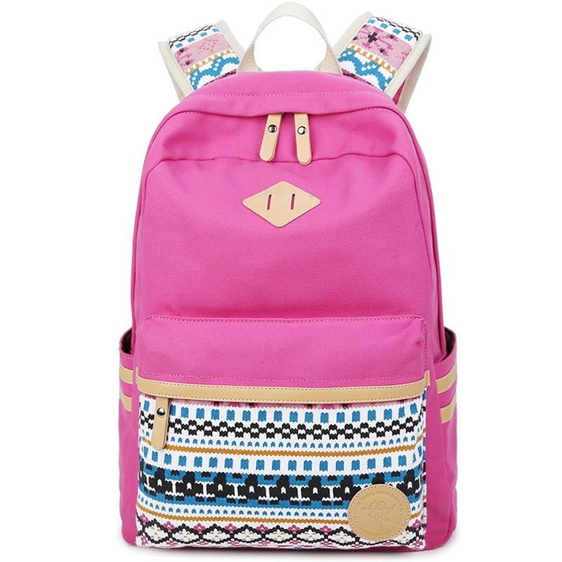 XQXA High Quality Backpacks for women Laptop Bag Printing School Backpack Bag for Teenager Girls Rucksack