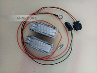 2Pcs Glove Box Light Glove Lights AND Cable For AUDI A4 A5 A6 A7 Q3 Q5