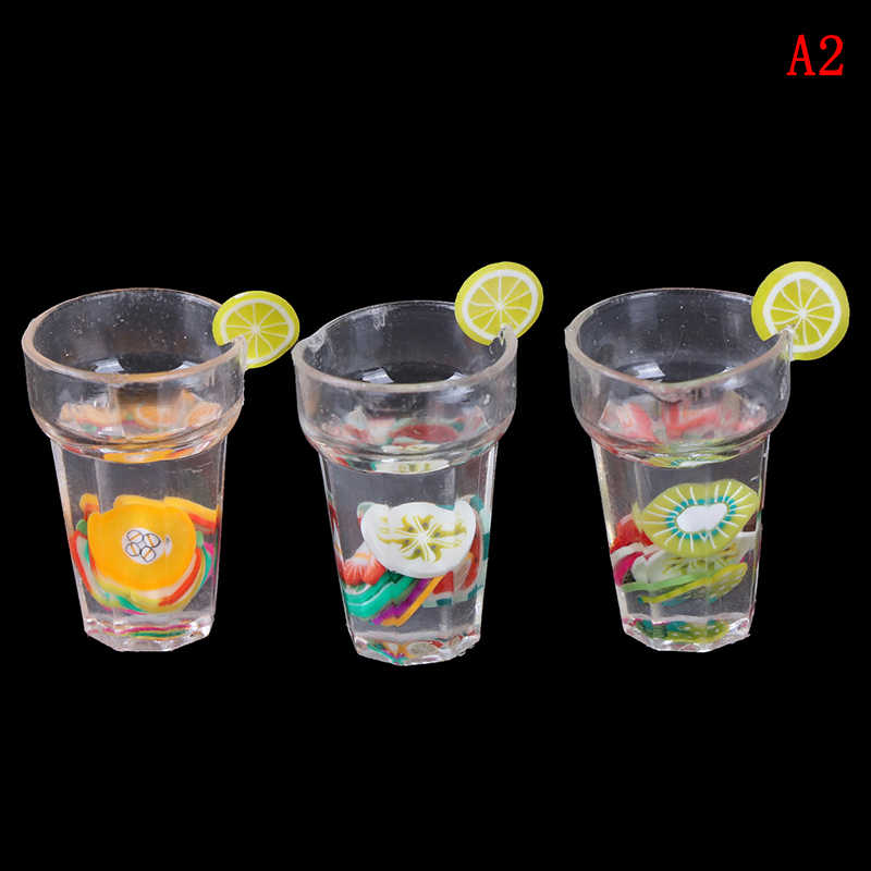 1/12 Miniature Food Mini Resin Fruit Bottle Simulation Drinks Model Furniture Toy Drink Play Dollhouse Dolls Accessories