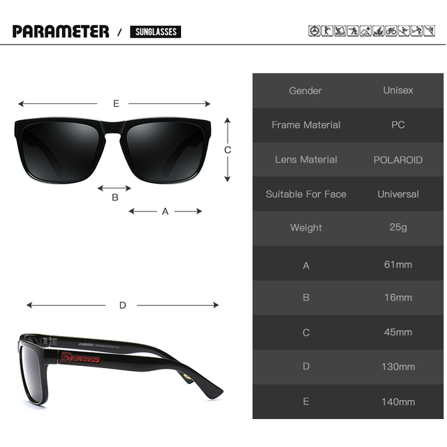 DUBERY D730 Polarized Aviator Sunglasses