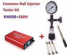 Common rail Тестер Комплект KW608 Многофункциональный дизель USB инжектор тестер + S60H форсунки Common Rail тестер
