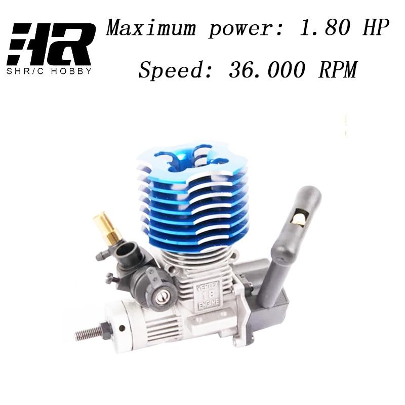 Livraison gratuite RC voiture 1/10 HSP 02060 BL VX 18 Moteur 2.74cc Pull Starter bleu pour RC 1/10 Nitro Voiture buggy Camion 94122 94166 94188