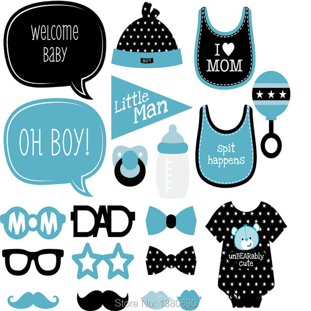 Diy Baby Shower Photo Booth Props Baby Birthday Party Photography