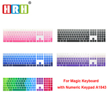 HRH Silicone Keyboard Cover Keypad Skin Protector For Apple Magic Keyboard with Numeric Keypad A1843 MQ052LL/A Released in 2017 metal keyboard with explosion proof industrial numeric keypad with 12keys waterproof numeric keypads matrix keypads