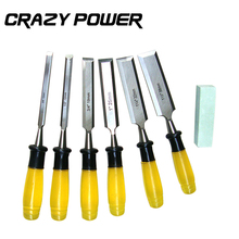 CRAZY POWER 7pcs Set Durable Wood Carving Chisels Knife For Basic Woodcut Working DIY Tools And