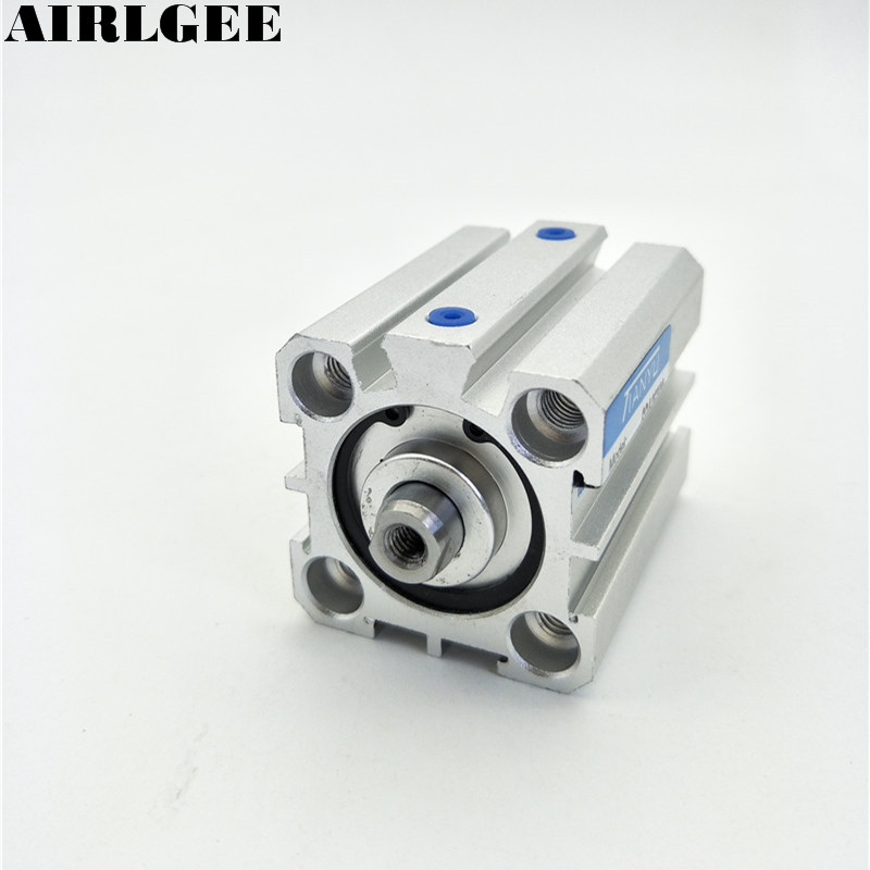 цена на Pneumatic Double Action 25mm Bore 30mm Stroke Compact Mini Thin Air Cylinder SDA25x30 New Free Shipping
